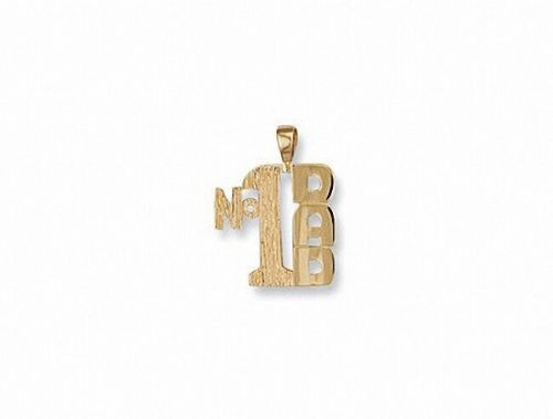 Dad Pendant Yellow Gold Men's Necklace Gents